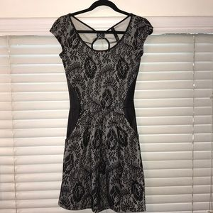 Jessica Simpson cute lace and pleather dress 👗